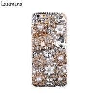 Laumans Bling Diamond со стразами сумочка Футляр чехол для iPhone4S 5S 5C 6 S 6 Plus 7 8 Plus x цветок ручной работы телефон обратно оболочки