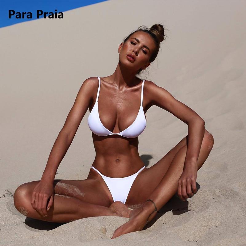 9 Colors Solid Bikini Set 2019 Sexy Push Up Swimwear Women Brazilian Swimsuit Low Waist Biquini Halter Two Pieces Bathing Suit 4