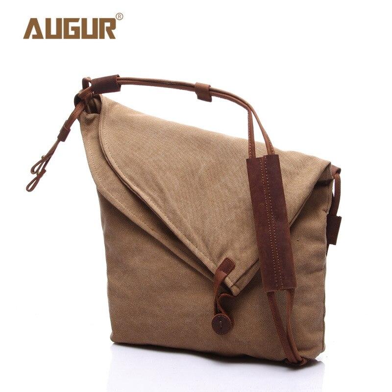 Casual Canvas Shoulder Bags Durable Zipper Small Messenger Work TOOL Bag Crossbody Bags