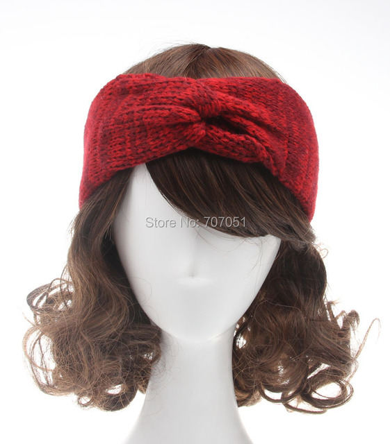 Ganchillo precintos diadema turbante Head Wrap Color de tono dos del ...