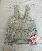 Bé Cô Gái Ăn Mặc Knit Trẻ Sơ Sinh Baby Girl Dresses với Hoa cho quà tặng sơ sinh