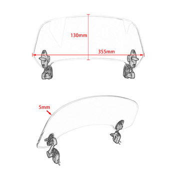 Deflector De Viento De La Motocicleta | Parabrisas De Parabrisas Ajustable Para Motocicleta Para BMW R1200GS Kawasaki Z900 Honda KTM Triumph Yamaha