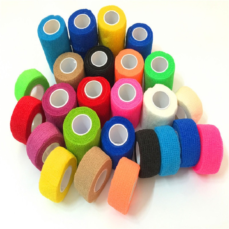 Autoadhesivo vendaje cohesivo deportivo esparadrapo coesa bandagem bandagem auto-adesivo bandagem elástica médica fita sporttap