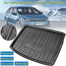 Для Volkswagen для VW Golf 7 GTI R Mk7 2013-2018 автомобилей задний багажная сумка сетка для предметов коврик поддон для обуви ковровое покрытие Hatchback люк