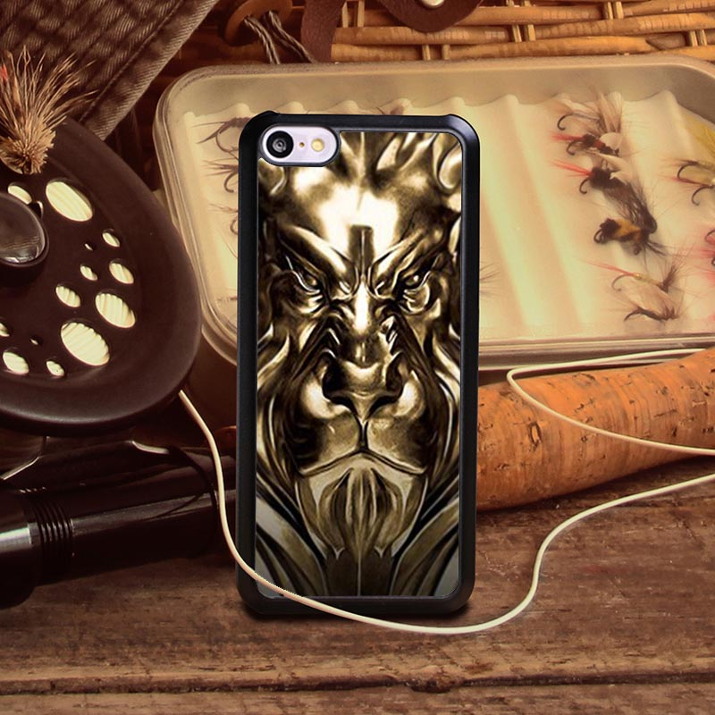 Hot sale Gold human face Pattern DIY TPU/PC Material Mobile Protection Cover Cases for iPhone 4S 5 5S 5SE 6S 6S 6P