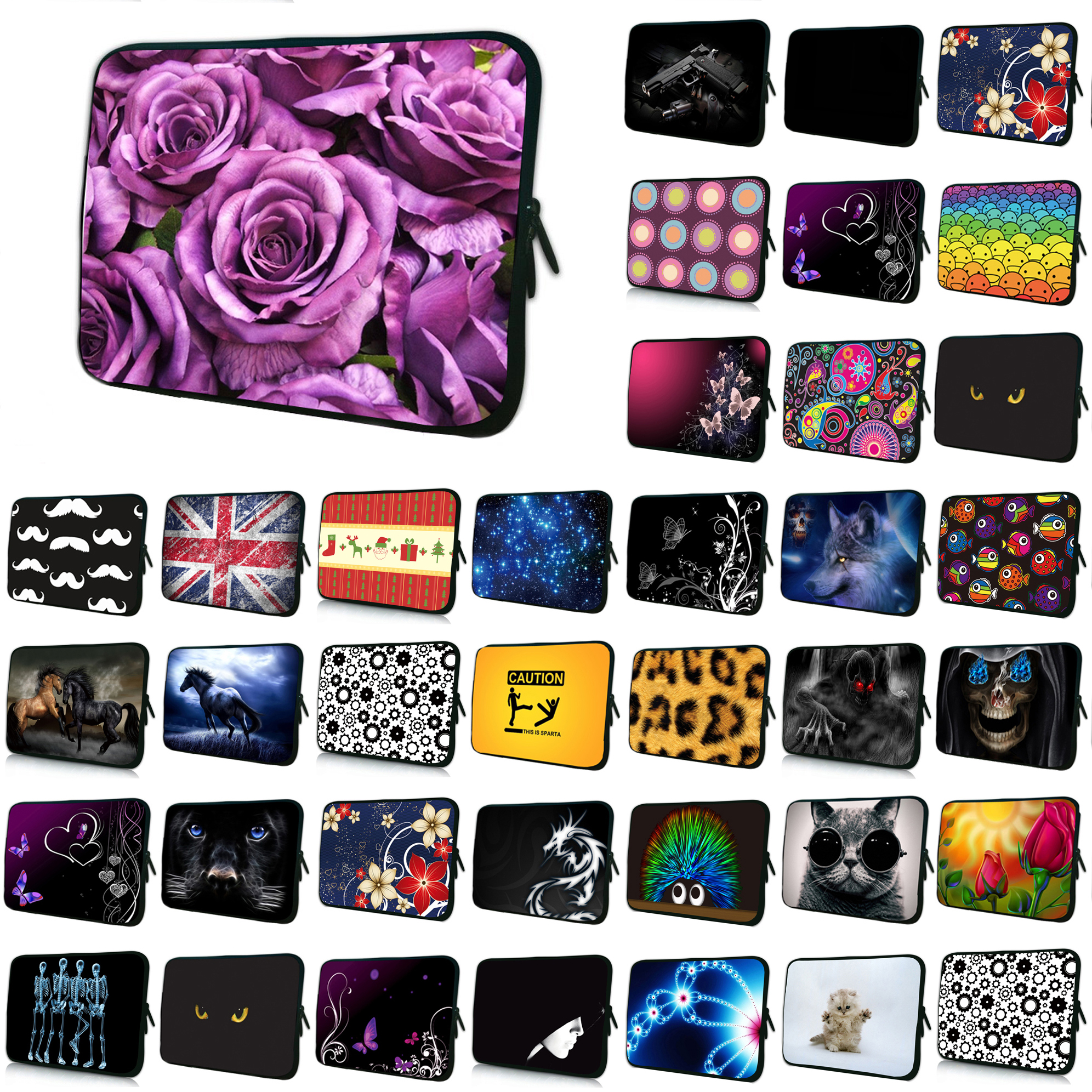 Floral Notebook 14 Anti-Scratch Neoprene Laptop Shell Cover Bags 14.1 14.4 Shockproof Inner Liner Pouch Cases Bag For Women
