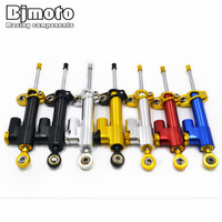 BJMOTO CNC Damper Steering Stabilizer Linear Reversed Safety Control For Honda CBR 600 F Hornet CB600F CB650F GROM MSX 125