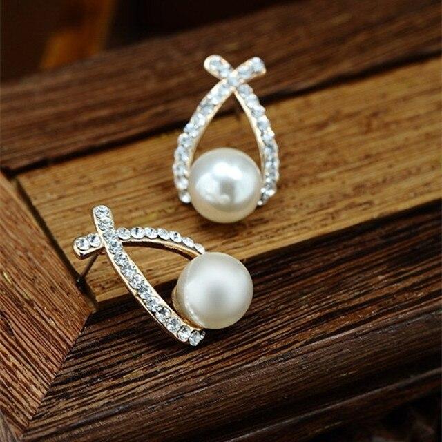 Simulated Pearl Drop Earrings 3