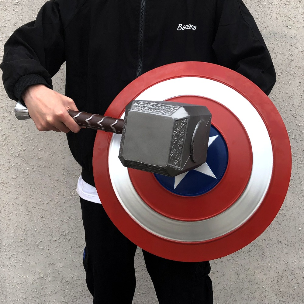 Thor Mjolnir Cosplay Avengers Endgame Costume Accessory Avengers Hammer Captain America Weapon Halloween Carnival Party Props image