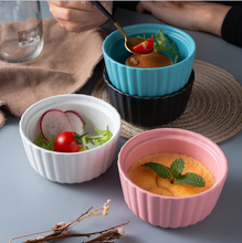 Ceramic Bowl Creative Shufulei Roasted Bowles Double Skin Milk Dessert Pudding Cup Steamed Cake For Tableware