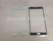 5pcs/lot Whole Sale grade A Outer glass Lens For Samsung Galaxy Note 3 mini White Black With Logo Free Shipping