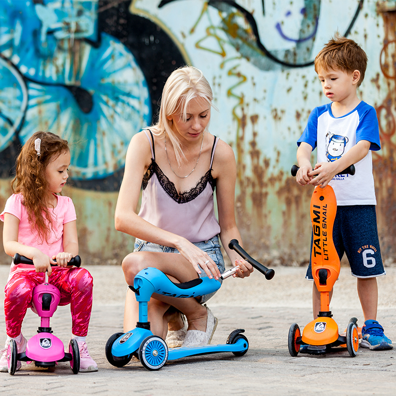 Conversion Children Three Wheel Scooter Ride A Bike Outdoor Tricycle Baby 3 In 1 Balance Bike Ride On Toys yoya stroller on balance