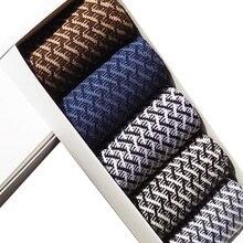 10 pçs = 5 pares de alta qualidade meias de fibra de bambu elite masculina casual meias de negócios usar não fedorento natural antibacteriano mo encaixotado