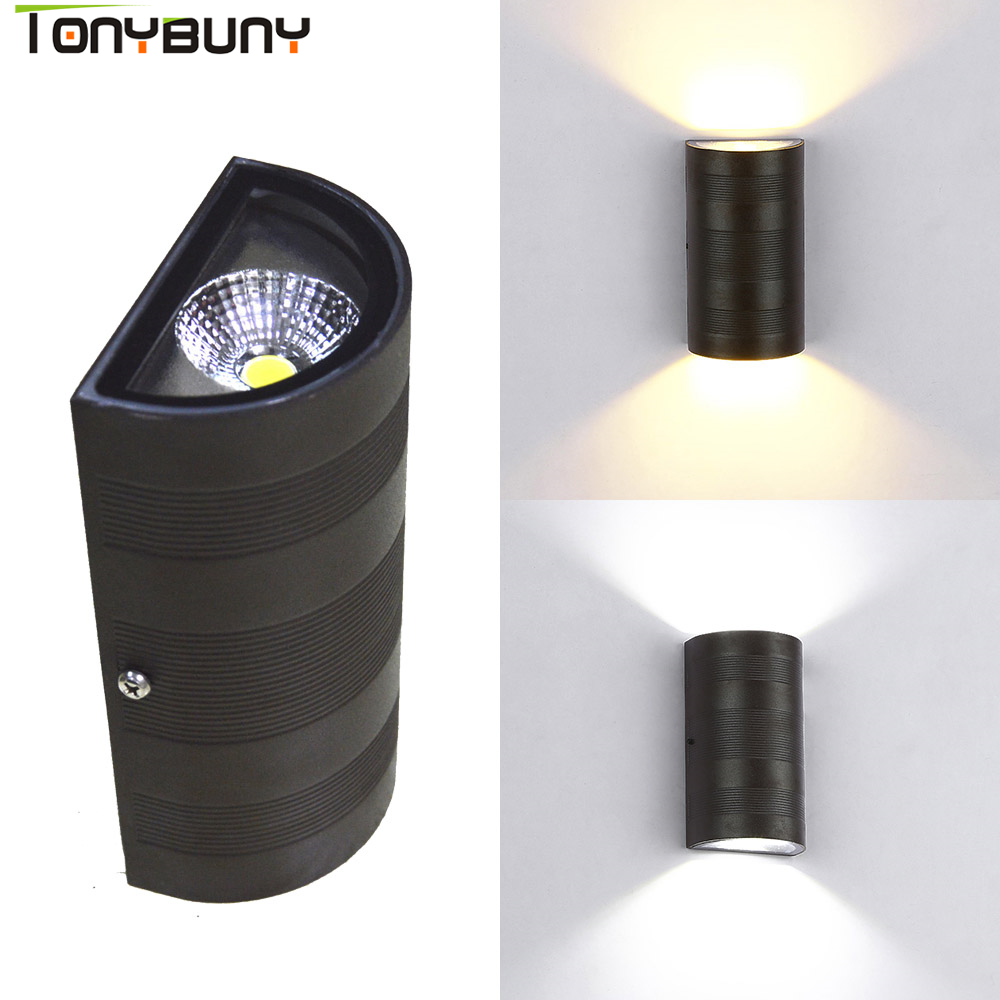 Modern aluminum outdoor led wall light AC110 AC220V up ...