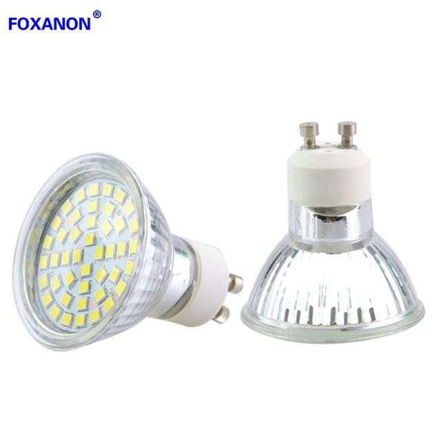 Foxanon Gu10 220v 5w Led Spotlight 2835 Smd 44leds Lights Lamps Gl Body Gu 10 Spot Light Bulb For Luxury Hotel Museum 10pcs