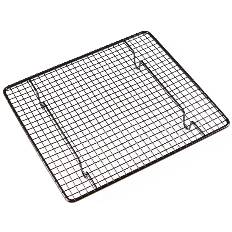 Non Stick Cake Cooling Rack Biscuits Drying Bread Buckle Net Short Design Baking Mat 26 23cm 2pcs Lot In Pastry Tools From Home