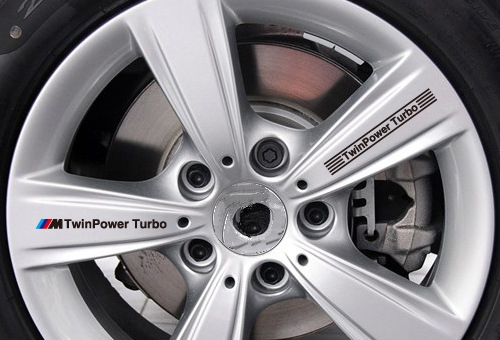 Aliauto Car-styling ///M TwinPower Turbo Car Rims Sticker and Decal Wheels Accessories for Bmw X1 X3 X4 X5 X6 M1 M2 M3 M5 M6 soarhorse car styling 3d chrome silver x1 x3 x4 x5 x6 gt z4 letters emblem rear trunk boot badge logo sticker for bmw