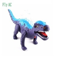 Free Shipping 1 Pcs Electric Dinosaur Toy Interactive Toys Walk Flashing Sounding Christmas Gift