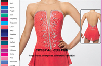 Crystal Custom Figure Skating Dress Girls New Brand Ice Skating Clothes For Competition DR4671