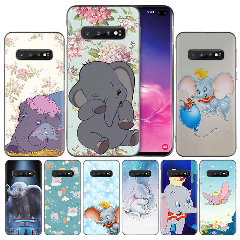 Animation Dumbo Silicone Case Cover for Samsung Galaxy A50 A70 A40 A20 A20e A10 A9 A8 A7 A6 Plus 2018 M30 M20 M10 Note 8 9 Coque