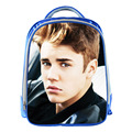 Justin Bieber Hot Stars Blue School Bags for Teenagers 13inch 3D Printing Boys Girls Children Kids School Bag