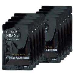 10 pçs/lote Beleza Rosto Cosméticos Mascara Facial Nariz Cabeça Preta Removedor de Cravo Máscara Facial Puntos Negros Cravo Poros Tiras