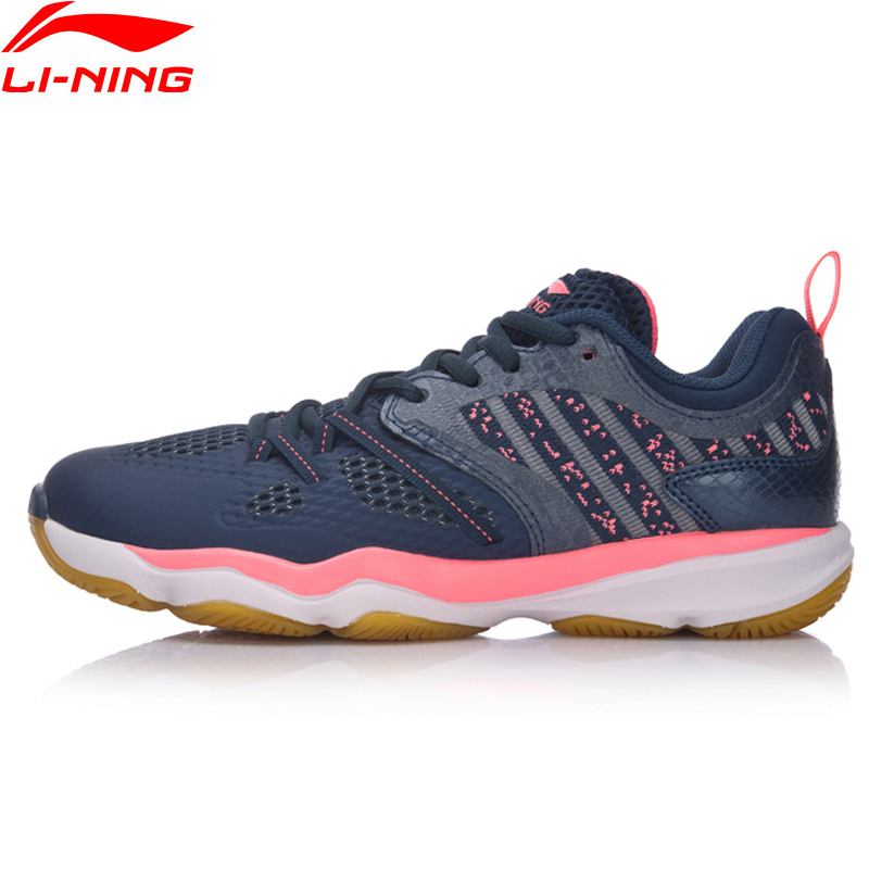 Li Ning Women Ranger TD Badminton Shoes Stability TPU Support Sneakers Skid Resistance LiNing Sports Shoes