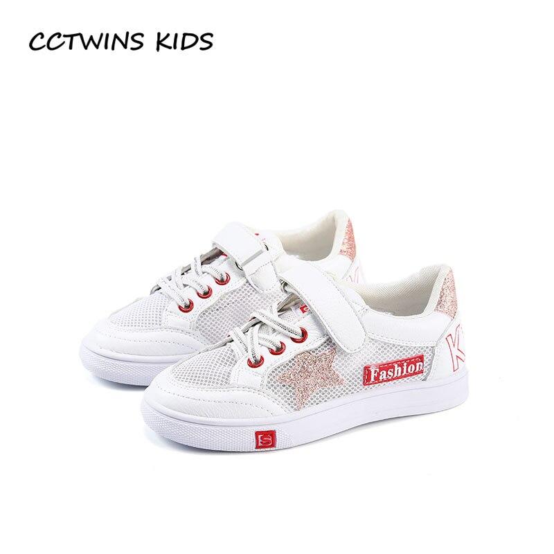 CCTWINS KIDS 2018 Summer Boy Fashion Star Shoe Children Casual Trainer Baby Girl Brand Mesh Breathable Sport Sneaker FSL2232