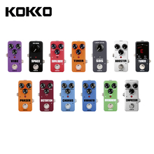 KOKKO Portable Electrict Guitar Effect Pedal,Overdrive/Space/Booster/Distortion/Supa Drive/Compressor/Chorus/Timer/Phaser/VIBE