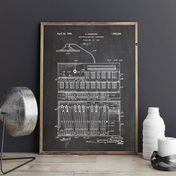 Hammond B3 Organ ,Keyboard Instrument art ,poster, wall decor,vintage print,blueprint,Musician gift idea, music Decorations