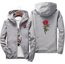 Молодежная Мода Сексуальная Роза Куртка Ветровка Изысканный Мужской Женская Весна Осень Колледж Курт Лучши