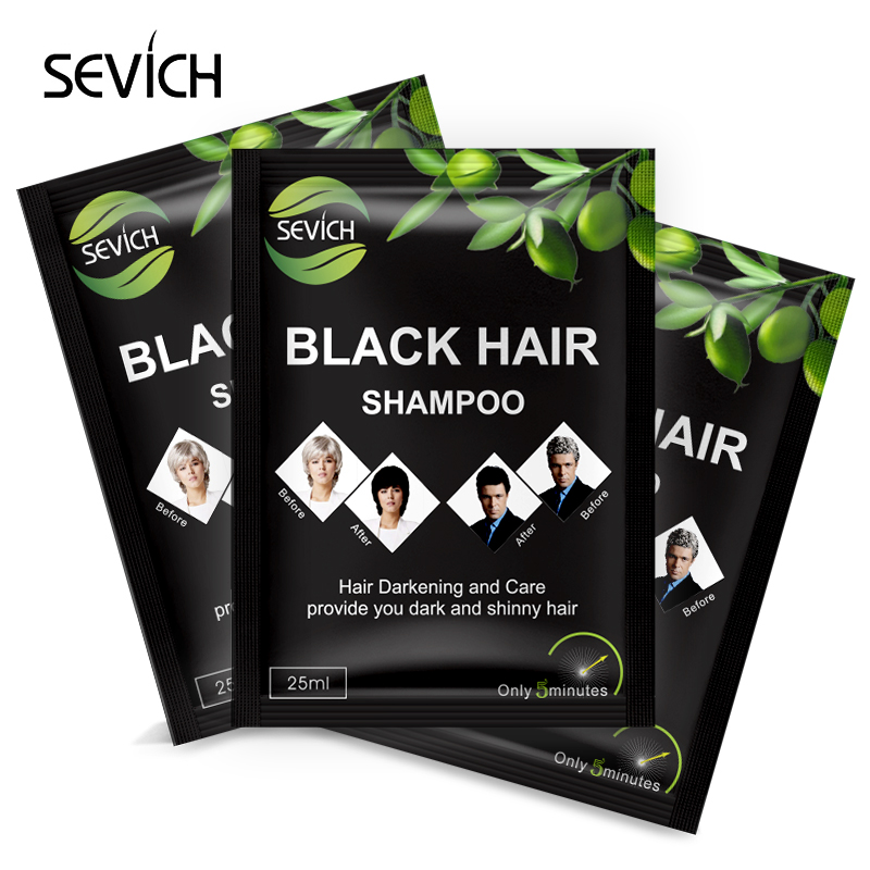 SEVICH Black Hair Shampoo Natural Herbal Only 5 Minutes Grey Hair Removal Dye Hair Coloring Restore Colorant Hair Care Supplies