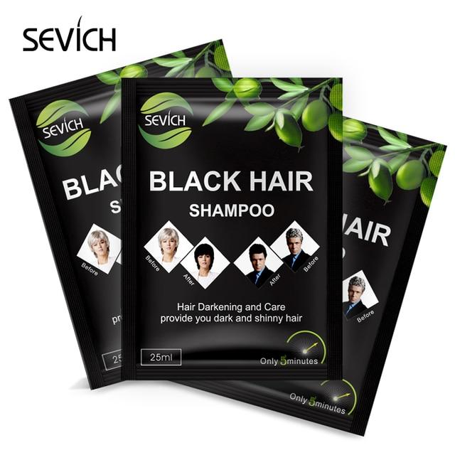 SEVICH Black Hair Shampoo Natural Herbal Only 5 Minutes Grey Hair ...