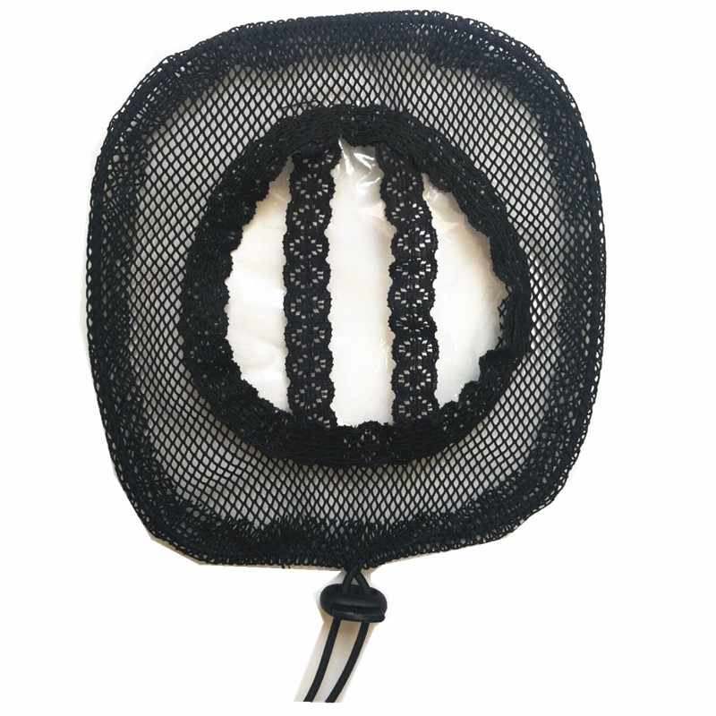 Роялти волосы 5 шт./партия черный цвет высокое качество волос сеть для изготовления конского хвоста и афро волосы булочка парик шапки сетки для волос оптовая цена