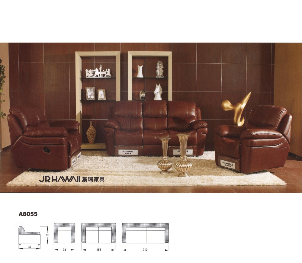 US $1200.0 |living room sofa Recliner Sofa, Genuine Leather Recliner Sofa,  Cinema Leather Recliner Sofa 1+2+3 seater-in Living Room Sofas from ...