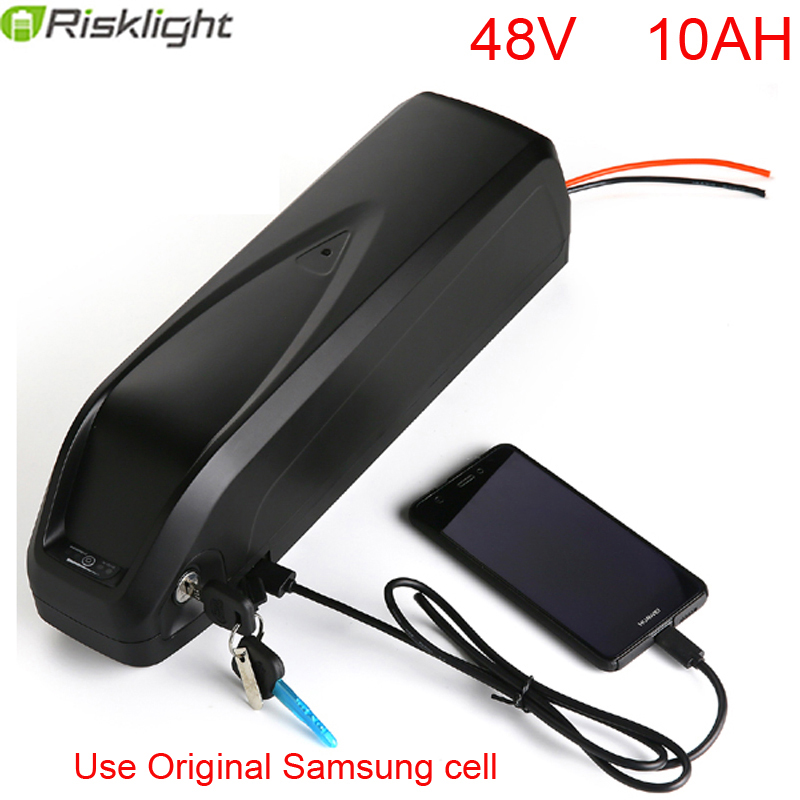 Down tube eBike Battery 48v 10Ah Lithium Battery 500W 48V Electric Bike Battery with USB+ 25A BMS 54.6V 2A charger
