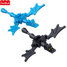 2pcs/lot Minecrafted Ender Dragon Compatible Lepine My World Building Construction Toy Blocks Assembled Toys for Kids Children(China)