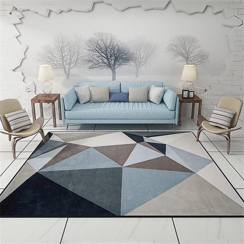 tapis de porte de sol gris triangles modernes scandinaves salon geometrique salon decoratif tapis de salle de bains tapis de cuisine