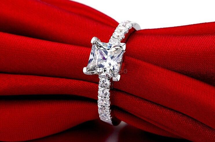 1 карат чистый 925 серебро моделирование NSCD Sona человек сделал Диамант S925 кольцо Размер настраиваемый американский размер от 4 до 12(JSA