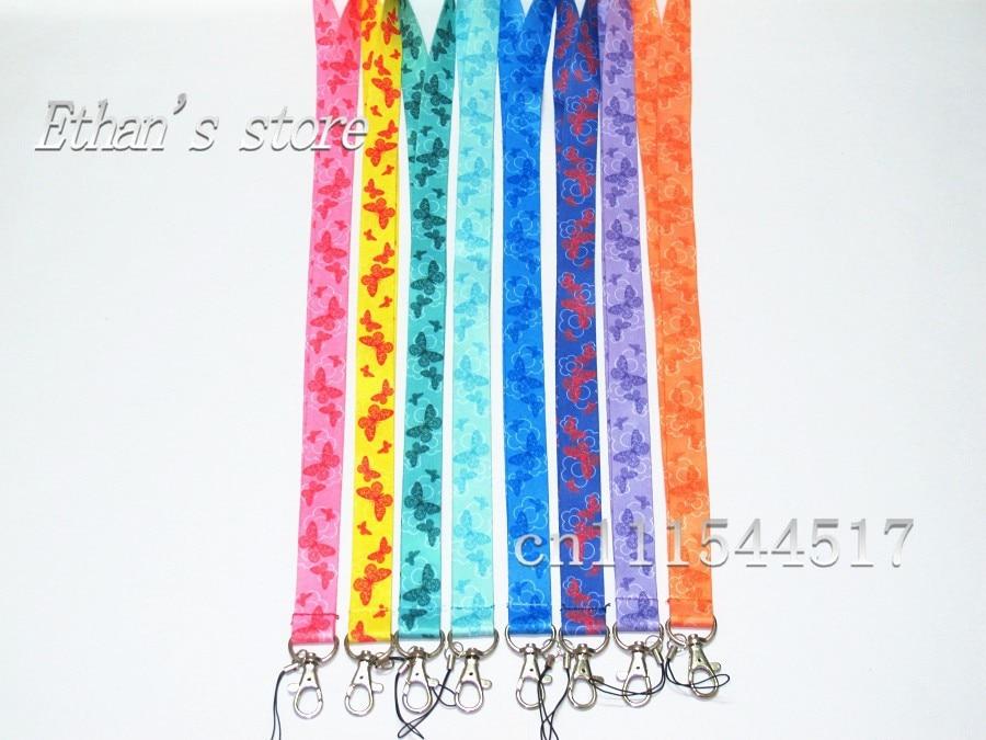 imágenes para Muchachas libres del envío cuello de la mariposa cordón de cuello móvil correa Color de la mezcla