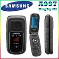 100% Оригинал Разблокирована Samsung A997 Rugby III 2 Г 3.15MP GPS Bluetooth mp3-плеер Восстановленное Раскладной мобильный телефон Бесплатная Доставка