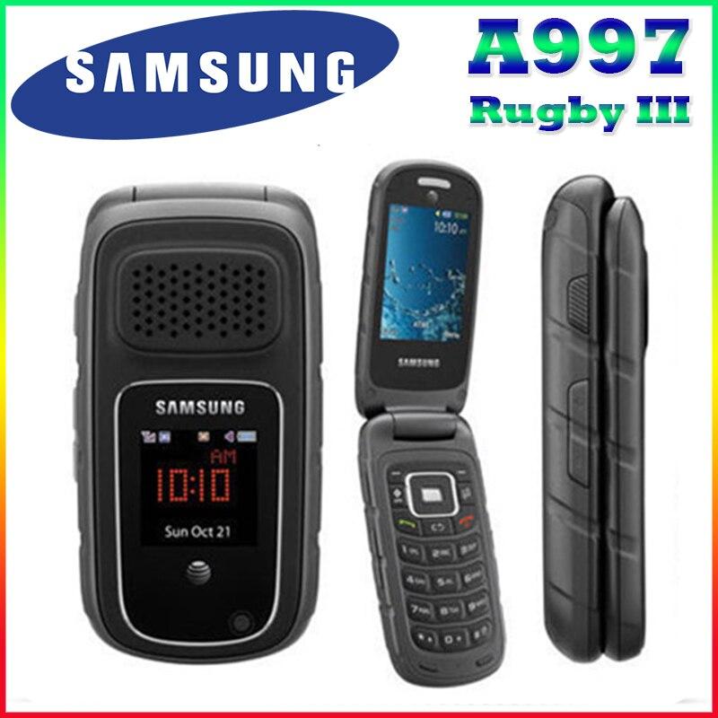 100 Original Unlocked Samsung A997 Rugby III 2G Refurbished Flip mobile phone Free Shipping