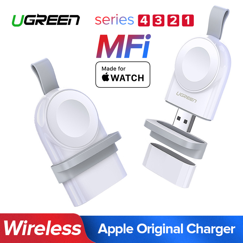 Ugreen Carregador Para Apple Relógio Carregador Rápido Carregador USB Sem Fio Série 4 3 2 1 MFi Certified Original Para Apple relógio Carregador