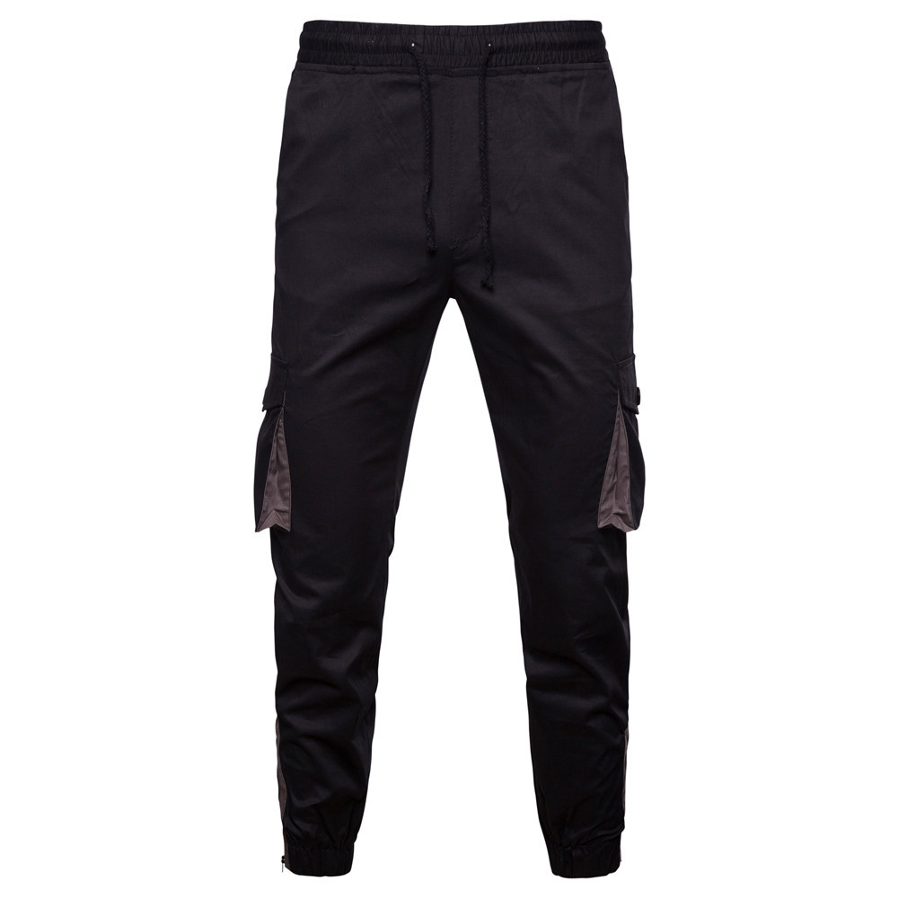 Mens Trousers Workout-Pants Multi-Pocket Casual Combat-Zipper New-Arrival