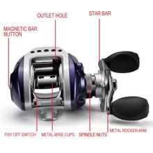 Yolo Drop Shipping 10+1BB Bait Casting Fishing Reel Gear Ratio 6.3:1 Baitcasting Fishing Reel With Magnetic Brake Pesca