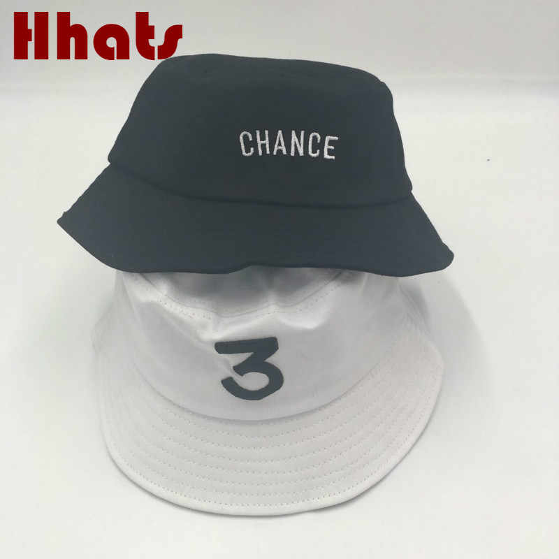 a46300116fa which in shower black CHANCE 3 bucket hat hip hop women white embroidery  the rapper fishing