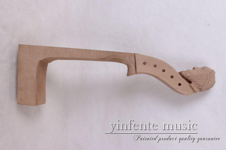 4/4 5 string New violin Neck Man Head Hand Carve High Quality 1-2 4 4 violin neck maple wood hand carve sheep head master yinfente 10 string