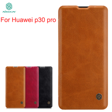For Huawei p30 pro Case Cover NILLKIN PU Leather Flip High Quality Phone