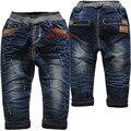 3982 winte детские джинсы брюки мальчиков маленький гарем брюки двухэтажных джинсовой + флис теплые брюки дети мода новый ницца 2016