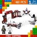 460 шт. Бела Новый 9733 Ниндзя Battle Arena Строительные Блоки Модель Игрушки Джей Коул мальчики Кирпичи Совместимость С Lego